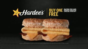 Hardee's Bacon, Egg and Cheese Biscuit TV Spot, 'Happy Meaty Meditations' - Thumbnail 7