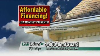 LeafGuard of Michigan TV Spot, 'Big Mouth: 65 Percent Off Labor, Financing and a $100 Gift Card' - Thumbnail 5