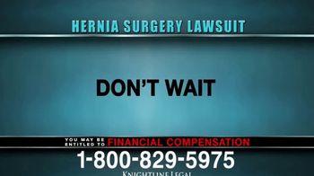 Knightline Legal TV Spot, 'Hernia Surgery Complication' - Thumbnail 9