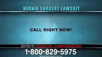 Knightline Legal TV Spot, 'Hernia Surgery Complication' - Thumbnail 3