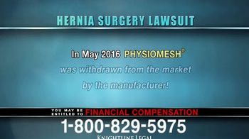 Knightline Legal TV Spot, 'Hernia Surgery Complication' - Thumbnail 4