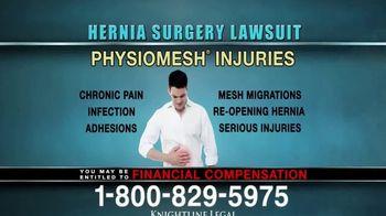 Knightline Legal TV Spot, 'Hernia Surgery Complication' - Thumbnail 6