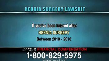 Knightline Legal TV Spot, 'Hernia Surgery Complication' - Thumbnail 7