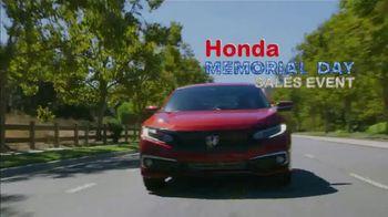 Honda Memorial Day Sales Event TV Spot, 'Save Thousands: Sedans' [T2] - Thumbnail 1