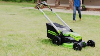 GreenWorks Pro Mower TV Spot, 'The Largest Residential Cutting Width' - Thumbnail 1