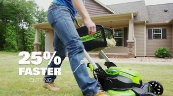 GreenWorks Pro Mower TV Spot, 'The Largest Residential Cutting Width' - Thumbnail 6