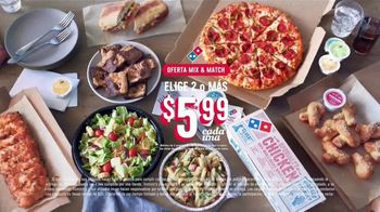 Domino's Mix & Match Deal TV Spot, 'Tomamos en serio la seguridad [Spanish] - Thumbnail 7