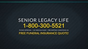 Senior Legacy Life TV Spot, 'Funeral Insurance' - Thumbnail 8