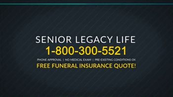 Senior Legacy Life TV Spot, 'Funeral Insurance' - Thumbnail 4