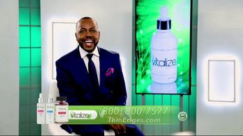 Vitalize 3-Part Hair Growth System TV Spot, 'Actually Works: Free Shipping' Featuring AJ Johnson