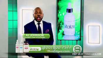 Vitalize 3-Part Hair Growth System TV Spot, 'Actually Works: Free Shipping' Featuring AJ Johnson - Thumbnail 2