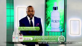 Vitalize 3-Part Hair Growth System TV Spot, 'Actually Works: Free Shipping' Featuring AJ Johnson - Thumbnail 3