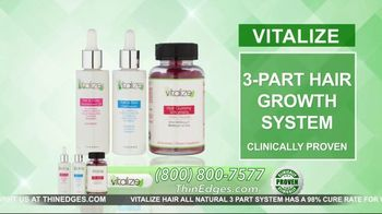 Vitalize 3-Part Hair Growth System TV Spot, 'Actually Works: Free Shipping' Featuring AJ Johnson - Thumbnail 4