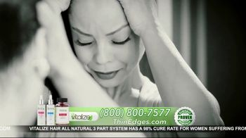 Vitalize 3-Part Hair Growth System TV Spot, 'Actually Works: Free Shipping' Featuring AJ Johnson - Thumbnail 5