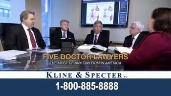 Kline & Specter TV Spot, 'Five Doctor Lawyers' - Thumbnail 2