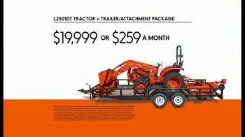 Kubota L2501DT Compact Tractor TV Spot, 'Getting Every Job Done Right' - Thumbnail 8