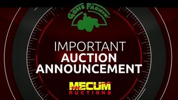 Mecum Auctions TV Spot, 'March Gone Farming Spring Classic Tractor Auction: Reschedule'