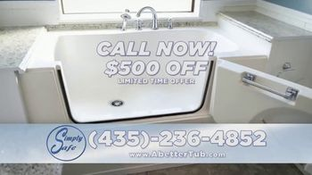 Simply Safe Slide-In-Tub TV Spot, 'Easy Entry & Wheelchair Accessibility: $500 Off' - Thumbnail 10