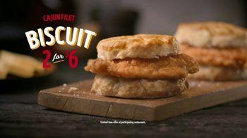 Bojangles' Cajun Filet Biscuit TV Spot, 'The First Bite: $6' - Thumbnail 7