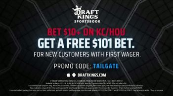 DraftKings Sportsbook TV Spot, 'Final Countdown: Houston vs. Kansas City: Free $101 Bet' - Thumbnail 10