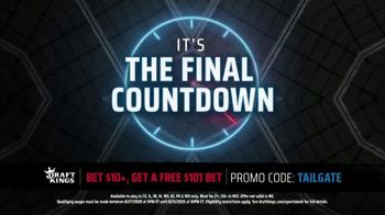 DraftKings Sportsbook TV Spot, 'Final Countdown: Houston vs. Kansas City: Free $101 Bet' - Thumbnail 2