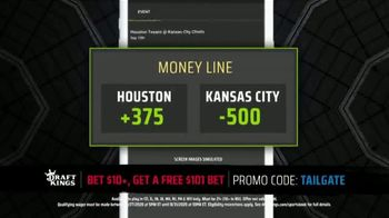 DraftKings Sportsbook TV Spot, 'Final Countdown: Houston vs. Kansas City: Free $101 Bet' - Thumbnail 7