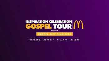 McDonald's Black and Positively Golden TV Spot, 'Sunday Best: Inspiration Celebration Gospel Tour' - 2 commercial airings