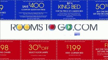 Rooms to Go Labor Day Coupon Sale TV Spot, 'Bonus Coupons' - Thumbnail 4