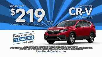 Honda Summer Clearance Event TV Spot, 'Utah: Clearance Pricing' [T2] - Thumbnail 4