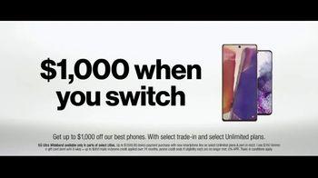 Verizon Unlimited TV Spot, 'Mix & Match 3.0: $1,000 Switcher' - Thumbnail 7