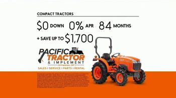 Kubota Compact Tractors TV Spot, 'Now's the Time: Zero Down + Save Up to $1,700' - Thumbnail 7