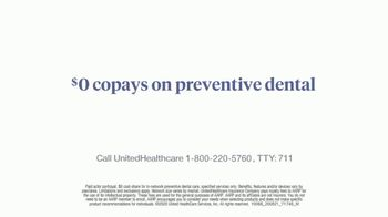 UnitedHealthcare Medicare Advantage TV Spot, 'Preventive Dental Care' - Thumbnail 6