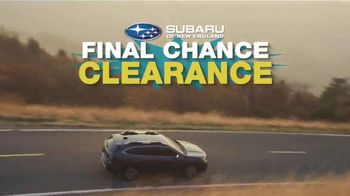 Subaru Final Chance Clearance TV Spot, 'Don't Miss: 2020 Outback' [T2] - Thumbnail 2