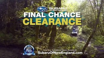 Subaru Final Chance Clearance TV Spot, 'Don't Miss: Full Lineup' [T2] - Thumbnail 5
