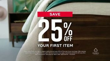 Ashley HomeStore Labor Day Sale TV Spot, '25% Off First Item' - Thumbnail 2