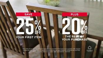 Ashley HomeStore Labor Day Sale TV Spot, '25% Off First Item' - Thumbnail 3