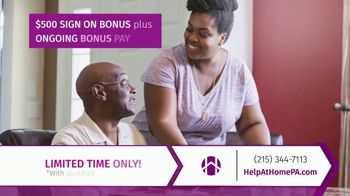 Help at Home TV Spot, 'Heroes of Home Care: $500 Sign On' - Thumbnail 6