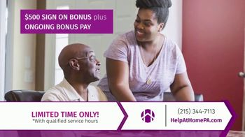 Help at Home TV Spot, 'Heroes of Home Care: $500 Sign On' - Thumbnail 7