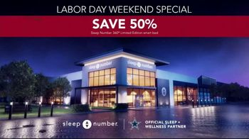 Sleep Number Biggest Sale of the Year TV Spot, 'Labor Day Weekend: Snoring: Save 50%' - Thumbnail 7