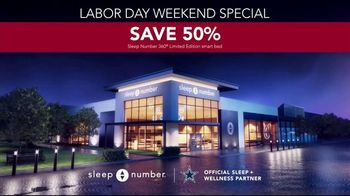 Sleep Number Biggest Sale of the Year TV Spot, 'Labor Day Weekend: Snoring: Save 50%' - Thumbnail 8