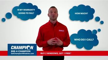 Champion Windows Fall Sale TV Spot, 'Eliminate the Middleman: Buy Two Windows, Get One Free' - Thumbnail 3