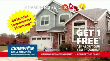 Champion Windows Fall Sale TV Spot, 'Eliminate the Middleman: Buy Two Windows, Get One Free' - Thumbnail 6