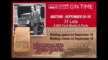 Mecum On Time TV Spot, '2020: Old Standard Auto Parts'