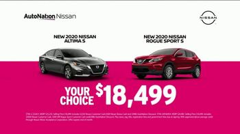 AutoNation Nissan TV Spot, 'Something You Can Count On: 2020 Altima or Rogue for $18,499'