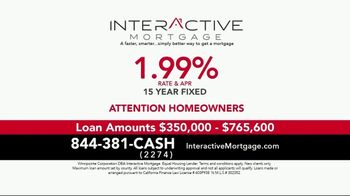 Interactive Mortgage TV Spot, '15 Year Fixed: 1.99%'