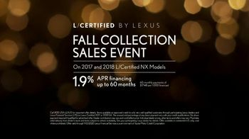 Lexus Fall Collection Sales Event TV Spot, 'Fall in Love' [T2] - Thumbnail 8