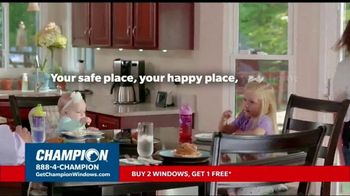 Champion Windows Fall Sale TV Spot, 'Your Safe Place: Buy Two, Get One Free' - Thumbnail 1