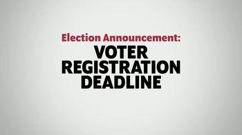 The Democratic National Committee TV Spot, 'Voter Registration Deadline'