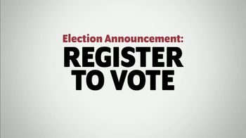 The Democratic National Committee TV Spot, 'Election Announcement: Register Right Now'