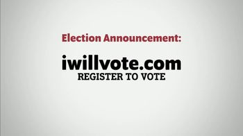 The Democratic National Committee TV Spot, 'Election Announcement: Register Right Now' - Thumbnail 2